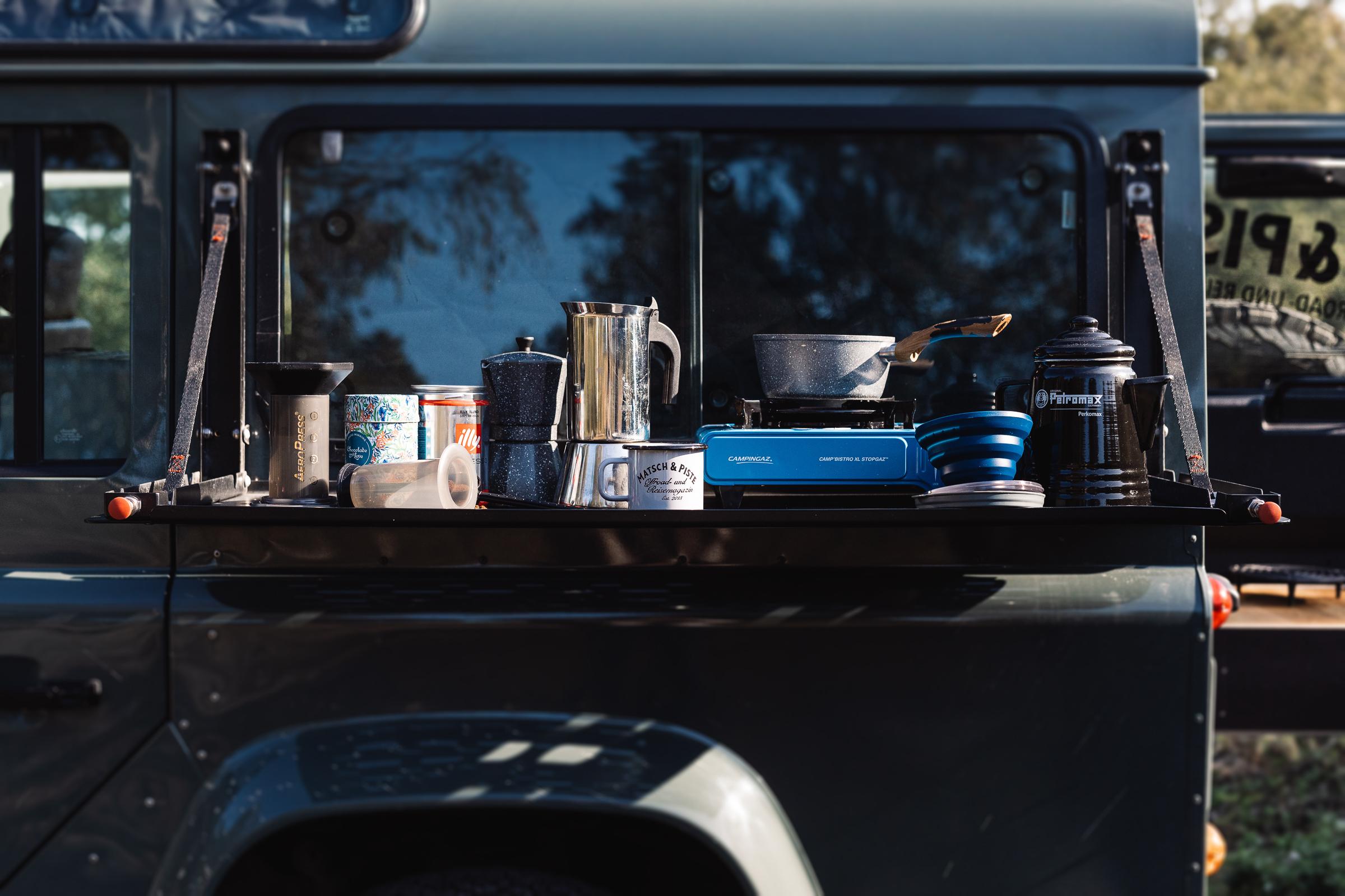 Kaffeekochen unterwegs auf Reisen