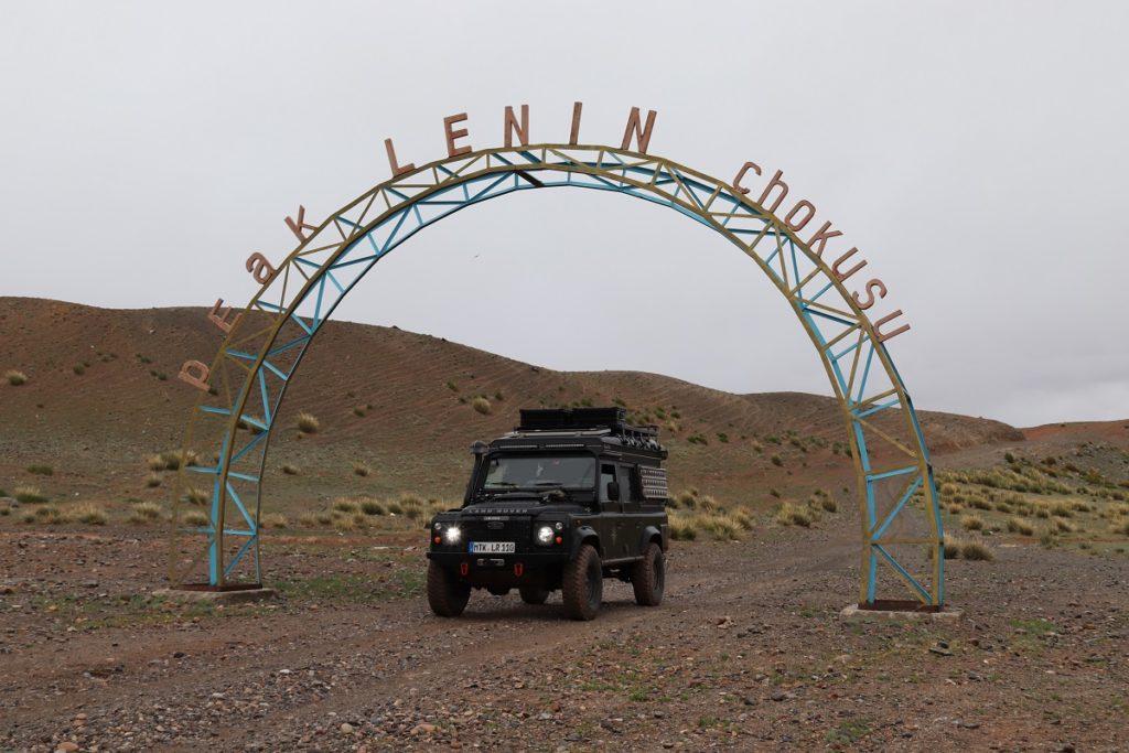 Kirgisien - Der Einstieg in die Piste zum Pik Lenin.
