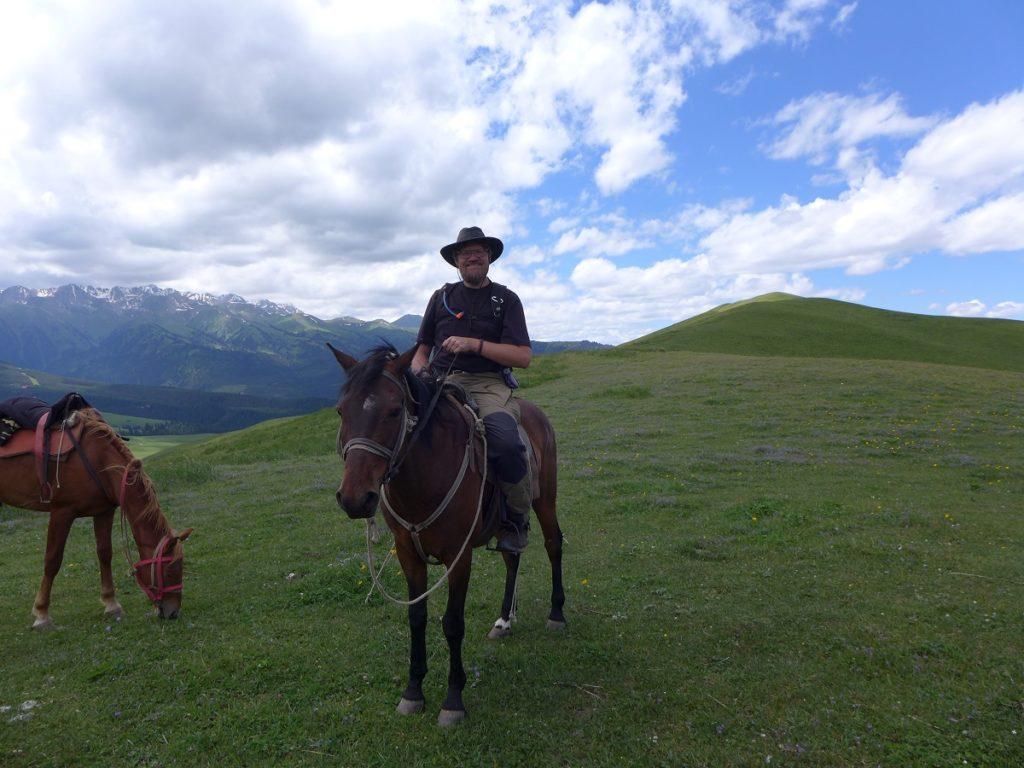Kirgisien - Björn hoch zu Ross.