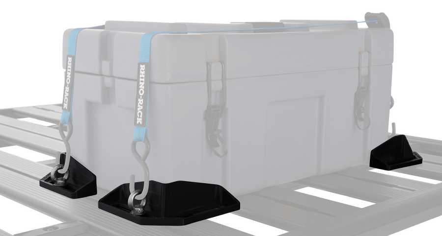 Rhino Rack Eckhalter - Halten die Stauboxen sicher am Platz.