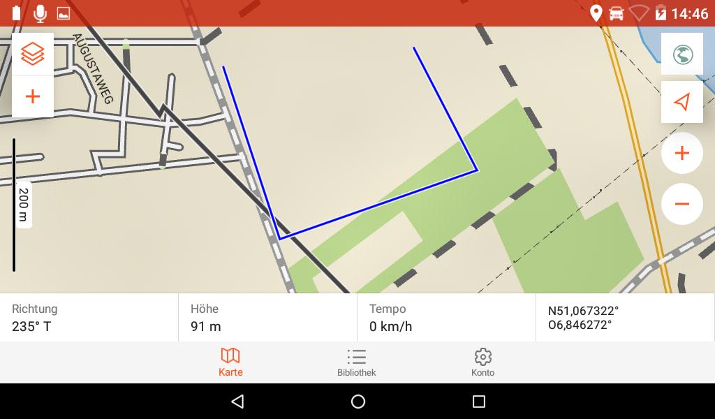 Garmin Overlander im Test - So sieht die in Explore geplante Route aus.