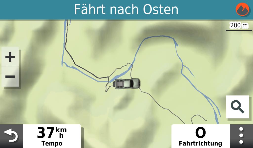 Die Here-Karte der Straßennavigation.
