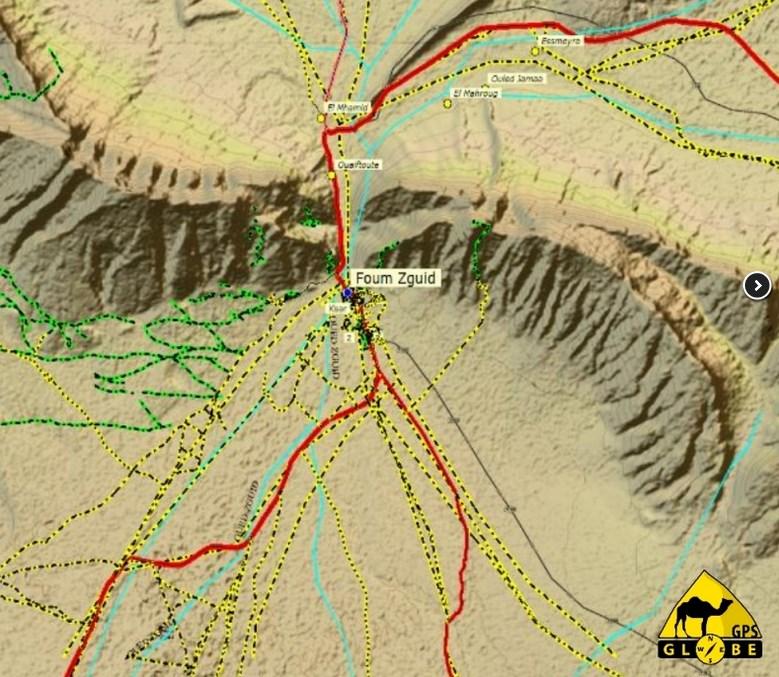 GPS Globe X8 im Test - Karte mit Relief Marokko von GPS Globe.