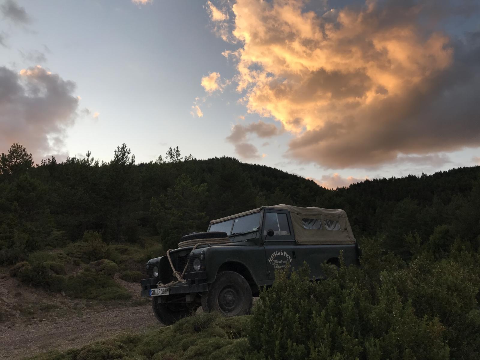 Im Oldtimer offroad durch die Pyrenäen - Der letzte Abend in den Pyrenäen.