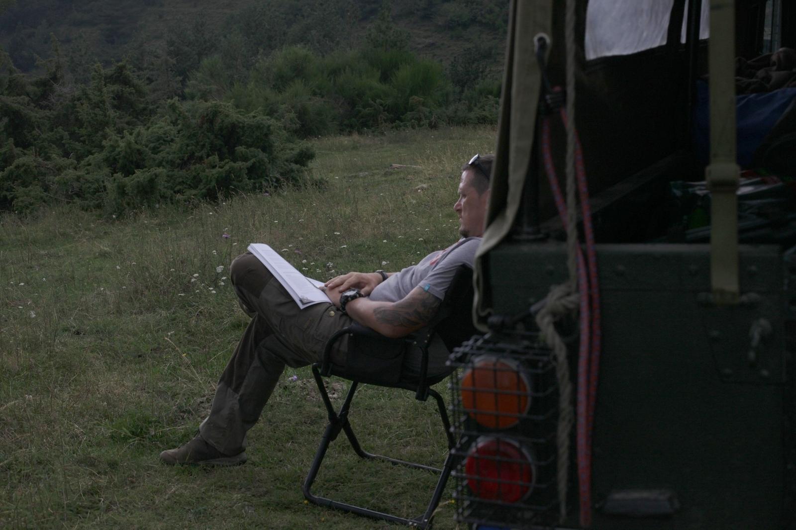 Entspannt lesen - schließlich sind wir ja im Urlaub.