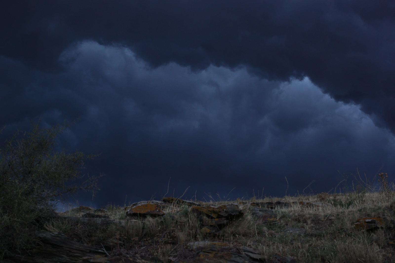 Das Unwetter ist da.