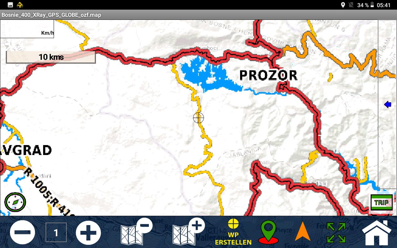 GPS Globe X8 im Test - Zoomt man zu weit rein, wird es pixelig.