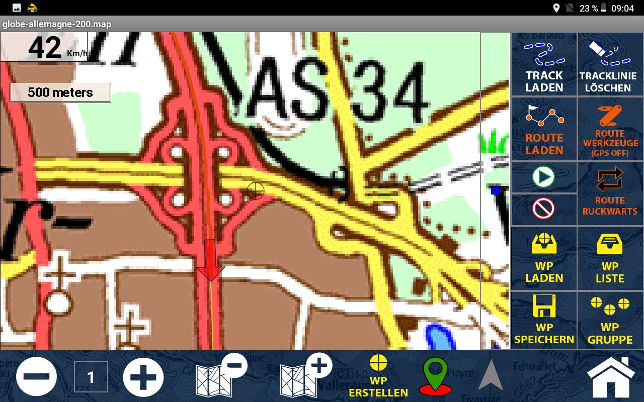 GPS Globe X8 im Test - So sieht der Straßenverlauf tatsächlich aus - Dank anderem Maßstab.