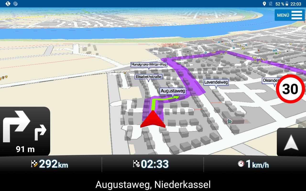 GPS Globe X8 im Test - MapFactor Navigator