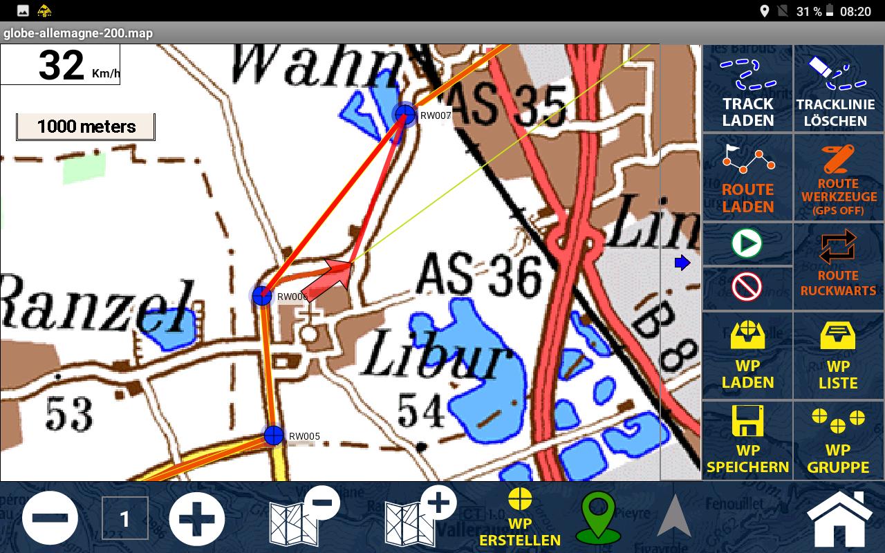 GPS Globe X8 im Test - Punkt-zu-Punkt-Navigation
