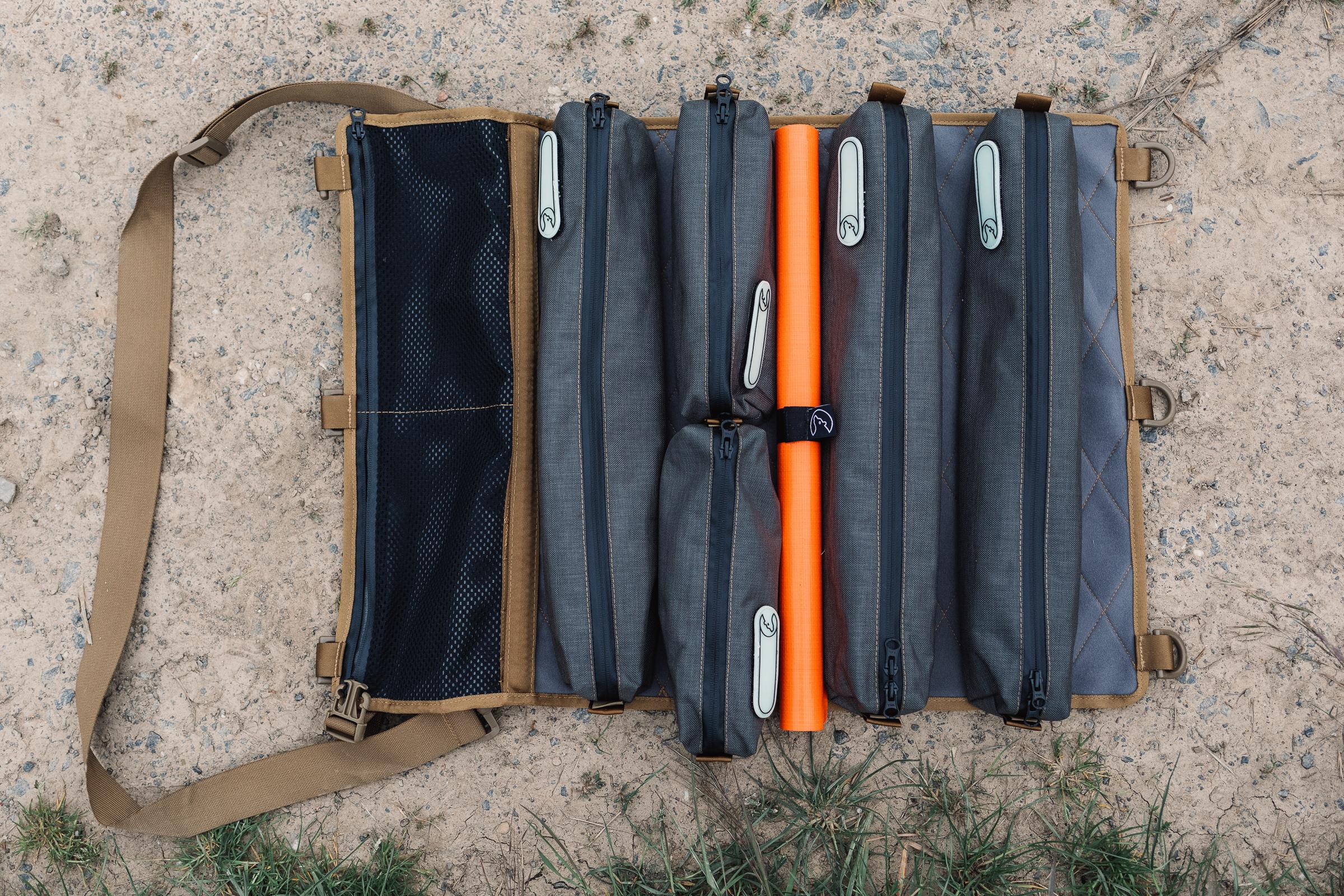 Werkzeugtasche Tool-Roll von Nakatanenga - Alles sauber verstaut.