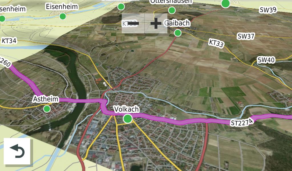 Satellitenkarten für die Drive-App ab Garmin Overlander Version 3.60.