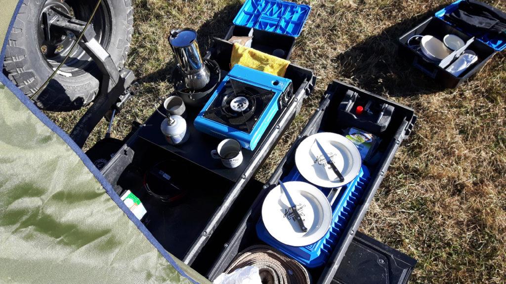 Taubenreuther - Das Decked-Schubladensystem im Camping-Modus.