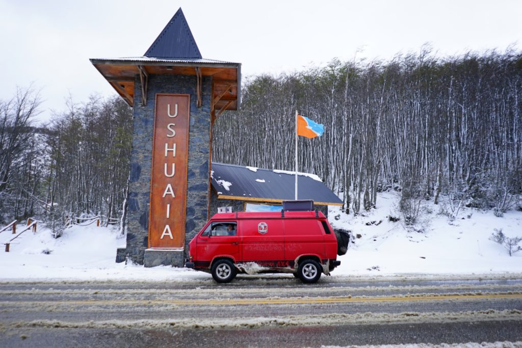 Panamericana im VW T3 Syncro - Ankunft in Ushuaia.