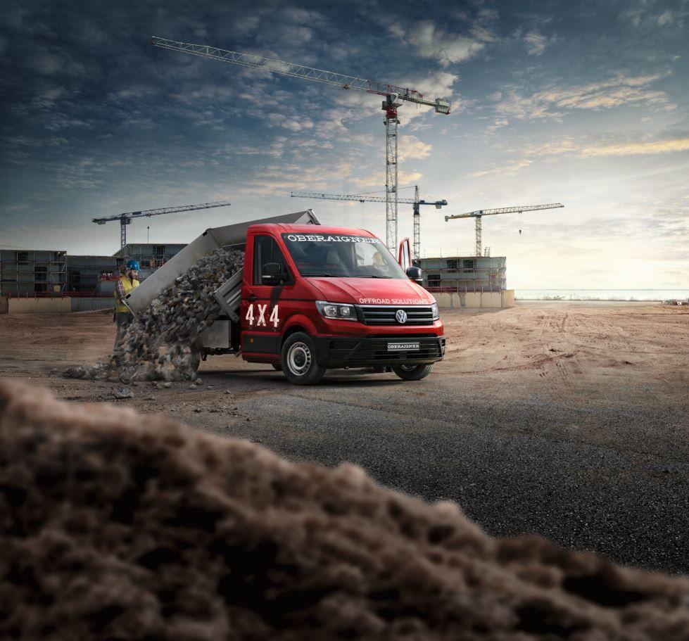 Für härtere Aufgaben ausgelegt: Allrad-Umbau von Oberaigner für den Crafter bis zu 5,5 t zGG von Volkswagen Nutzfahrzeuge.