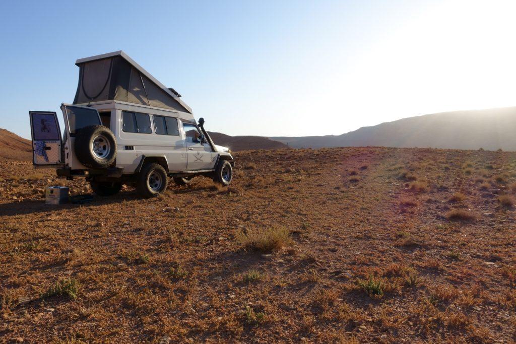 Toyota Land Cruiser in Marokko - So geht Camping in Marokko, das ist Wellness für die Seele.