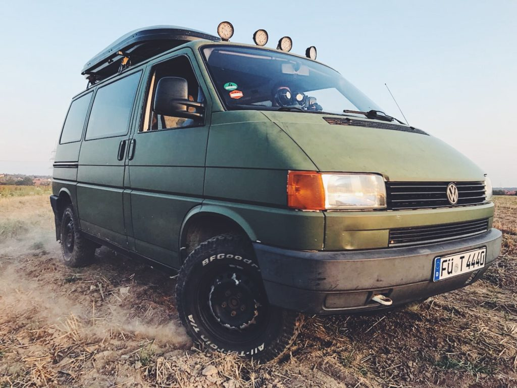 Robuster Look, der VW Bus T4 Syncro.