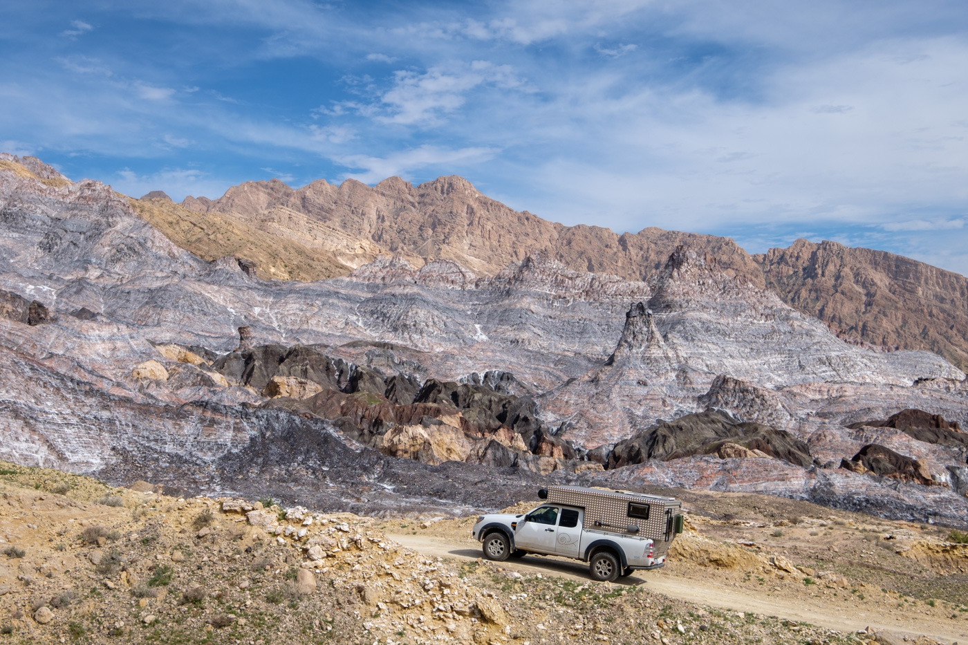Iran abseits der Hauptrouten - (6) Busher Provinz, Jashak Salzdom (Kuh-e Namak)