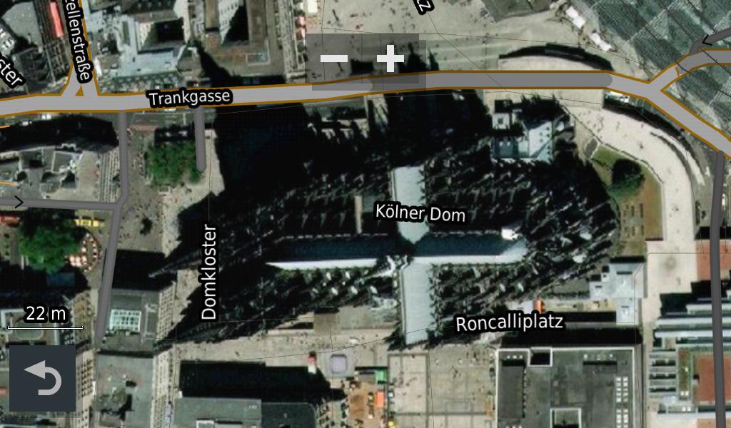 Garmin BirdsEye - Ein bekanntes Kulturdenkmal in Garmins BirdsEye Satellitenbild.