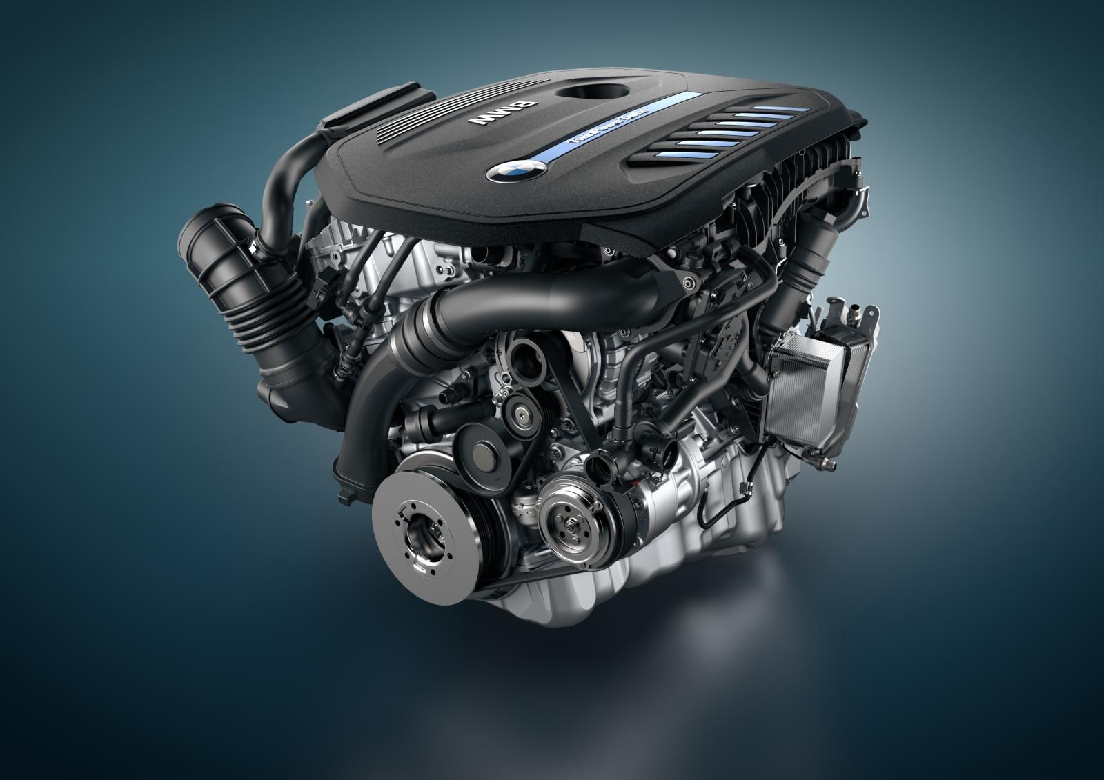 Der BMW Reihensechszylinder TwinPower Benzinmotor.