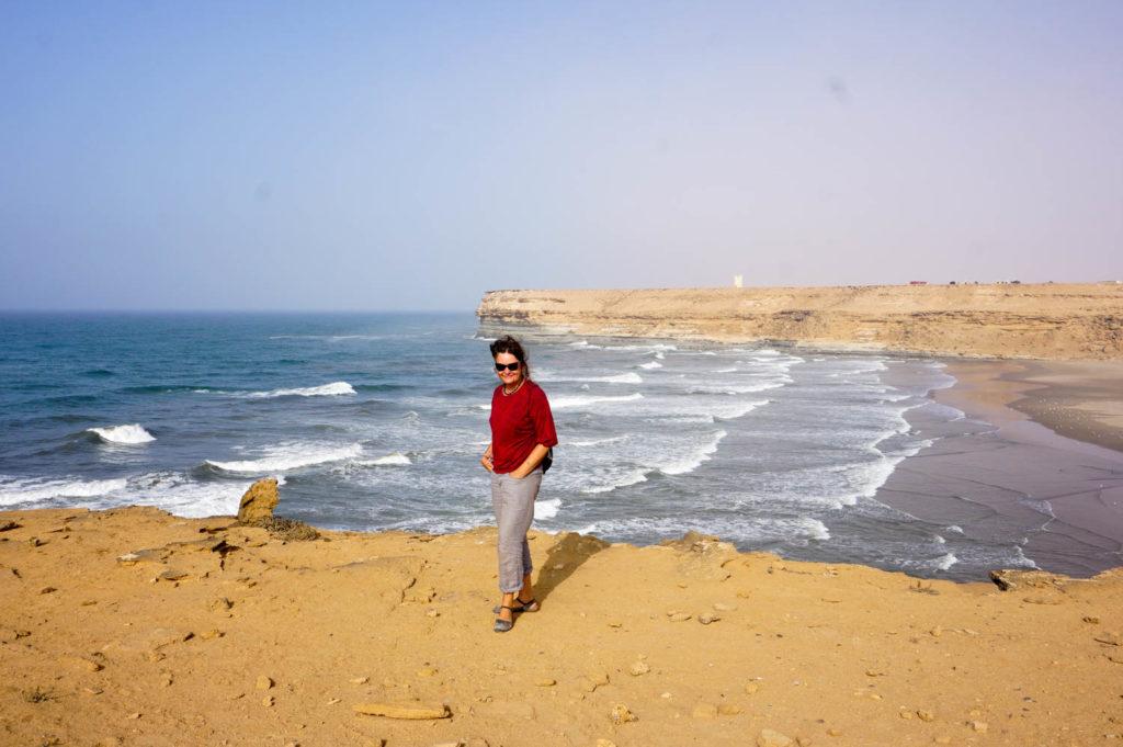 Berit an den Klippen der Westsahara.