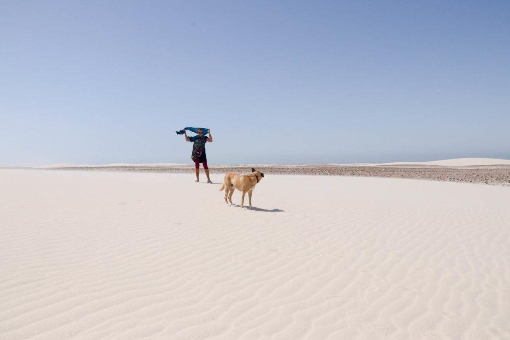 Mit Frau Scherer durch die Westsahara - Schnee oder Sand?