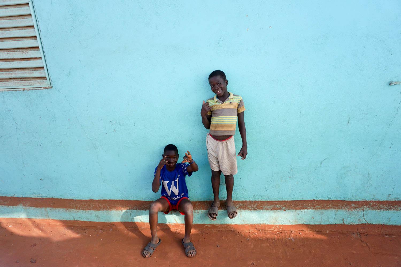 Freundliche Kinder in Mali.