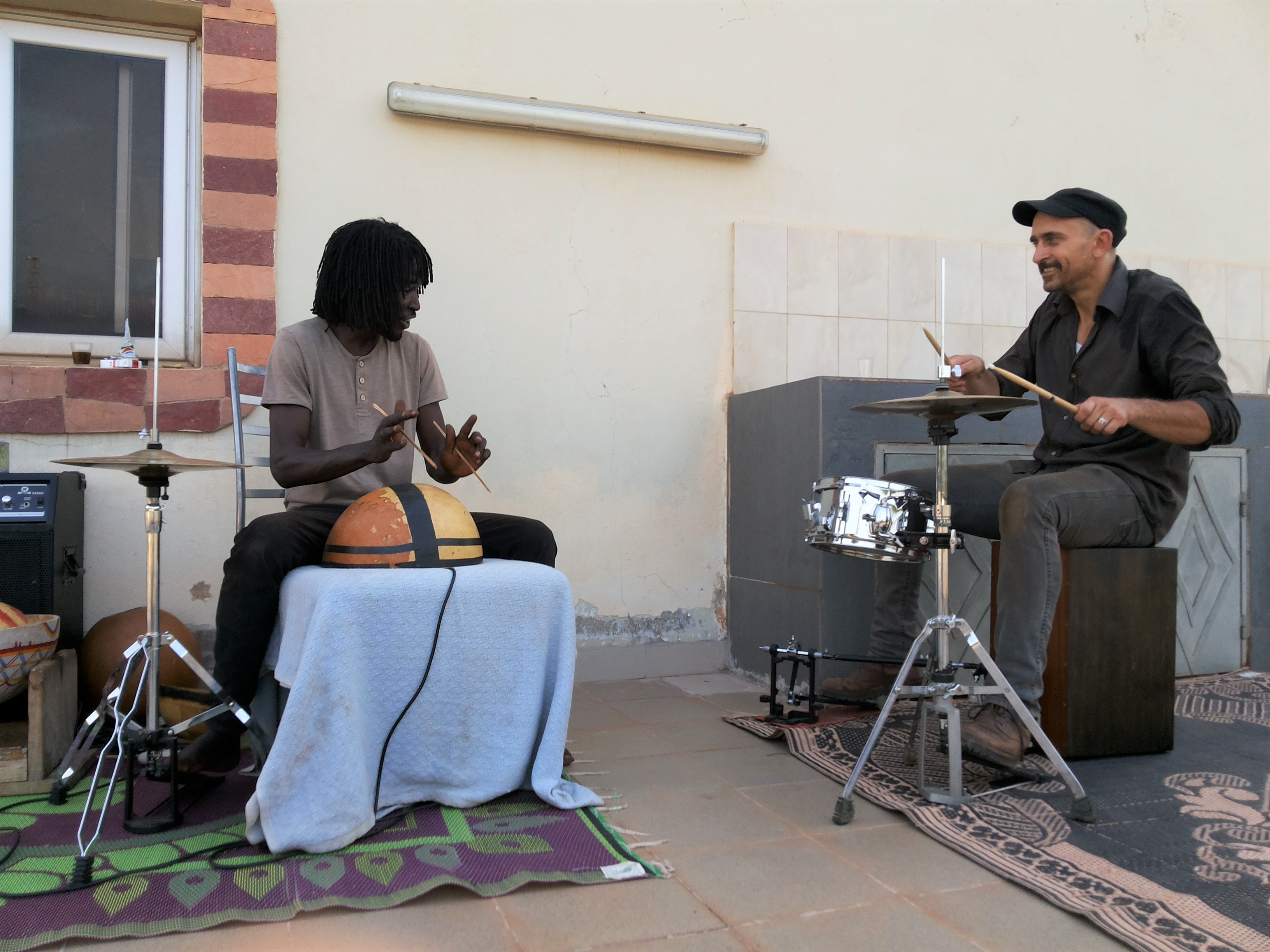 Jam-Session: Alassane Samaké mit Heppo