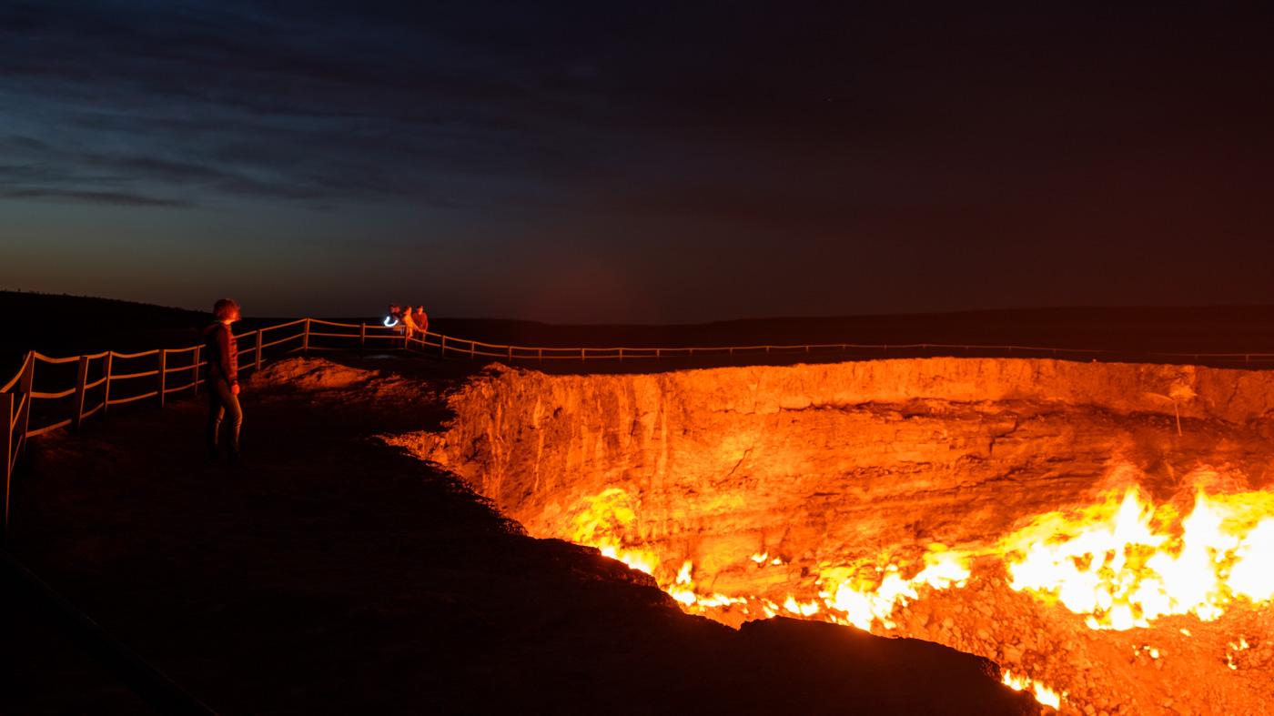 Derweze Gaskrater, Tor zur Hölle.