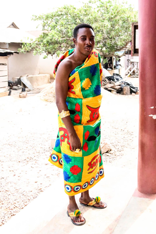 Ghana - Einer der Würdenträger lässt sich immerhin von uns fotografieren.