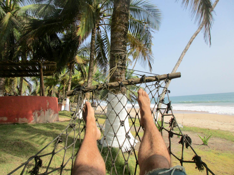 Frau Scherer in Ghana - Entspannung pur!