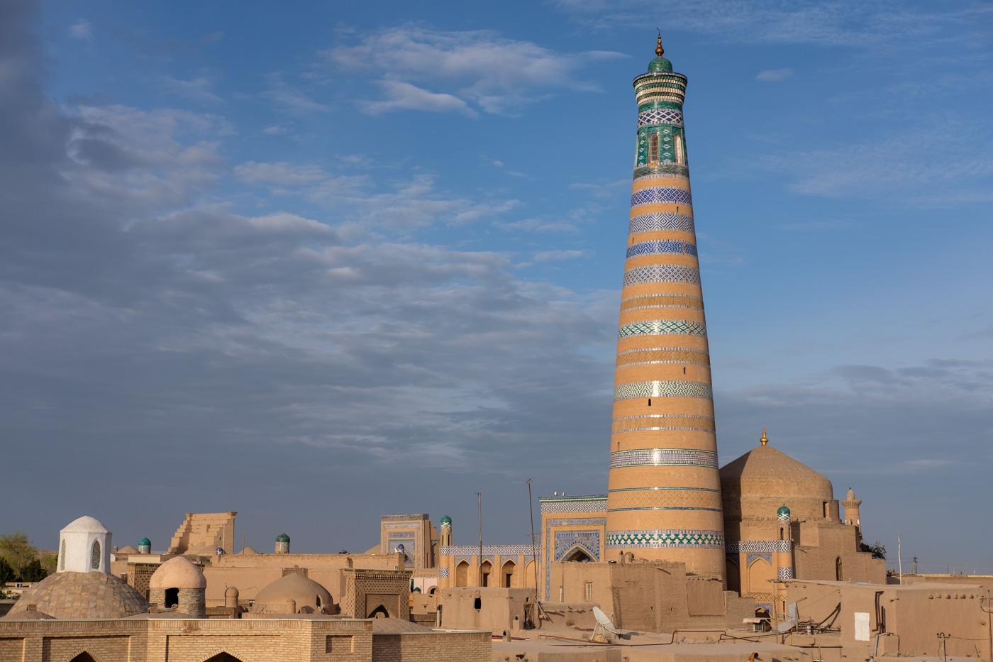 Das Islam Hodscha Minarett in Chiwa.