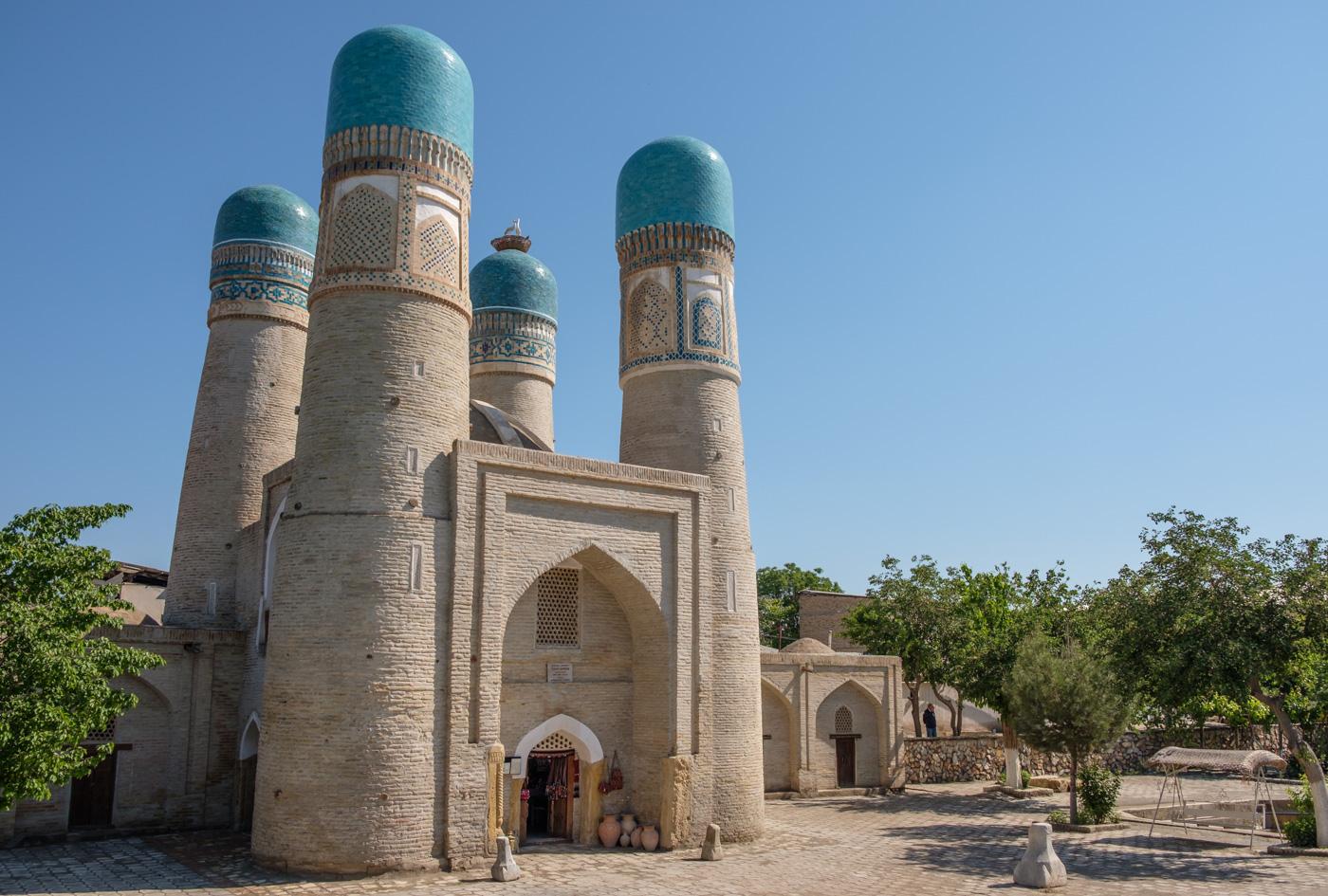 Usbekistan, Zentrum der Seidenstraße - Chor Minor Torgebäude in Buchara.