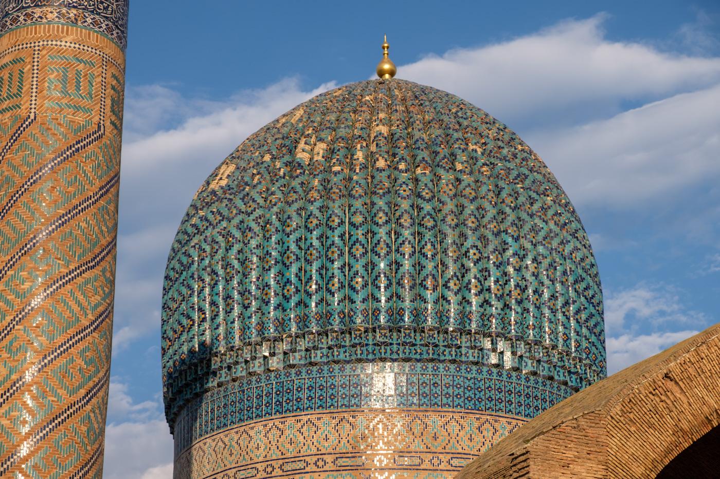 Kuppel des Gur-Emir-Mausoleums.