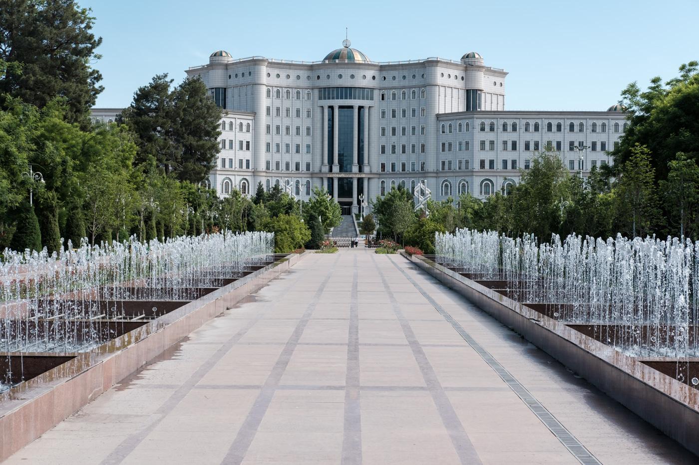 Die Nationalbibliothek Tadschikistans, Zentralasiens größte Bibliothek .