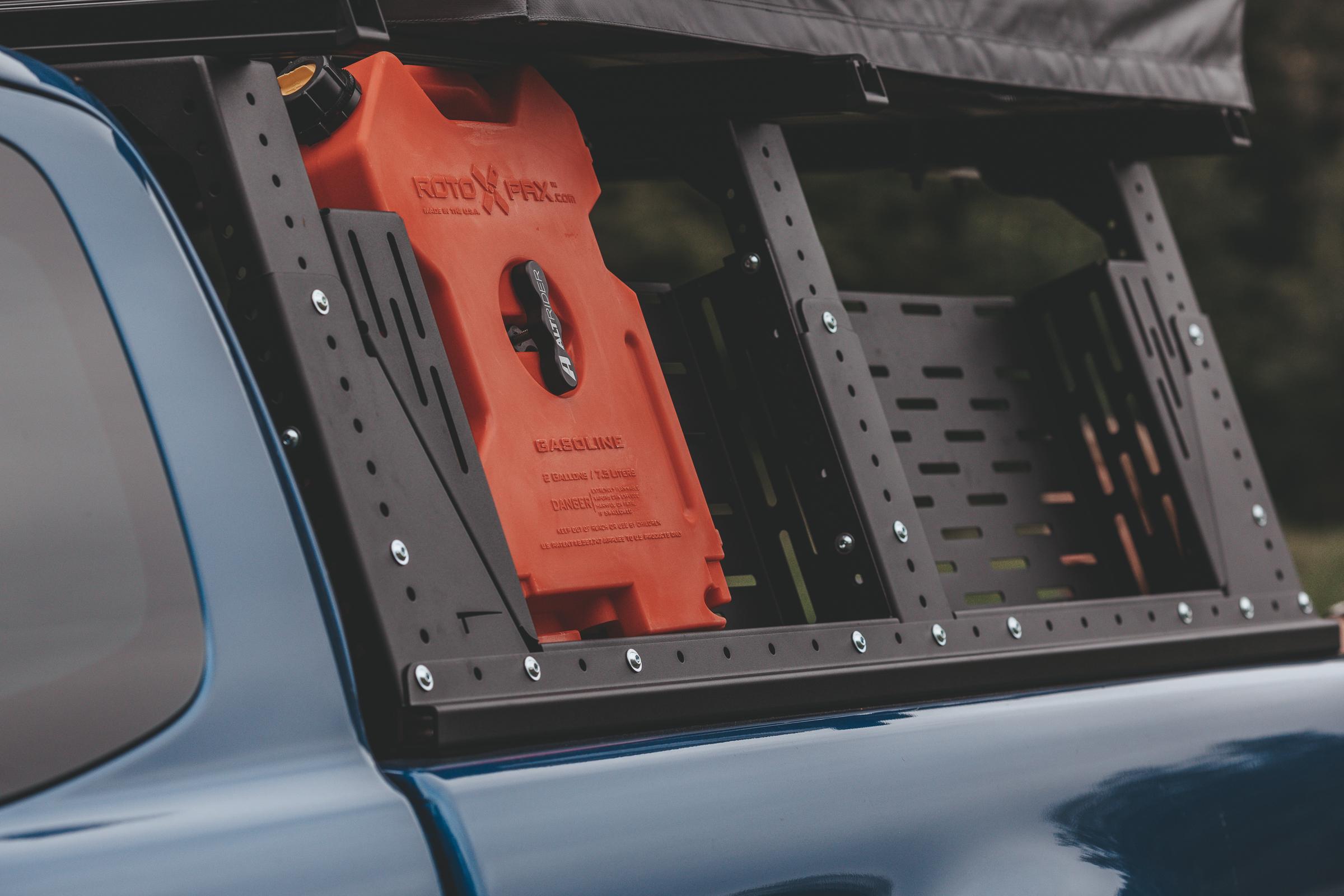 Ladeflächenträger Muli-Rack - Höhen- und seitenverstellbar.