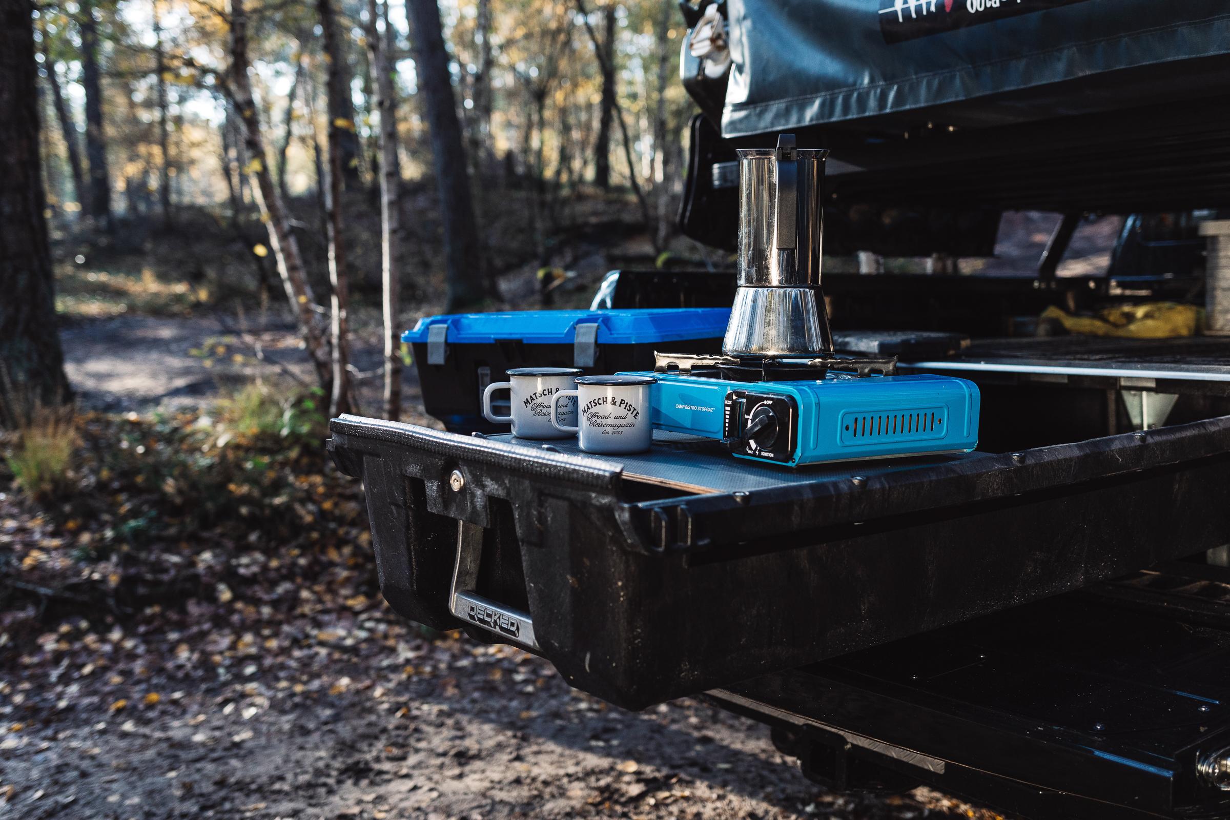 Camping-Kocher Offroad-Reise Ausrüstung Decked