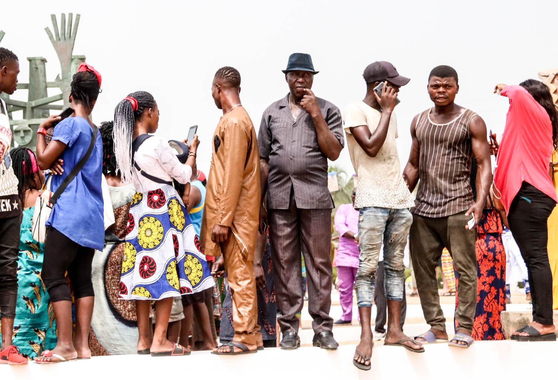Alles Voodoo: Zuschauer beim Voodoo-Festival in Ouidah, Benin.