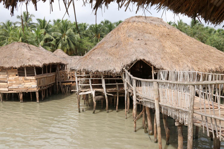 Mitten in den See gebaut: Stelzenhütten in Possotomé.