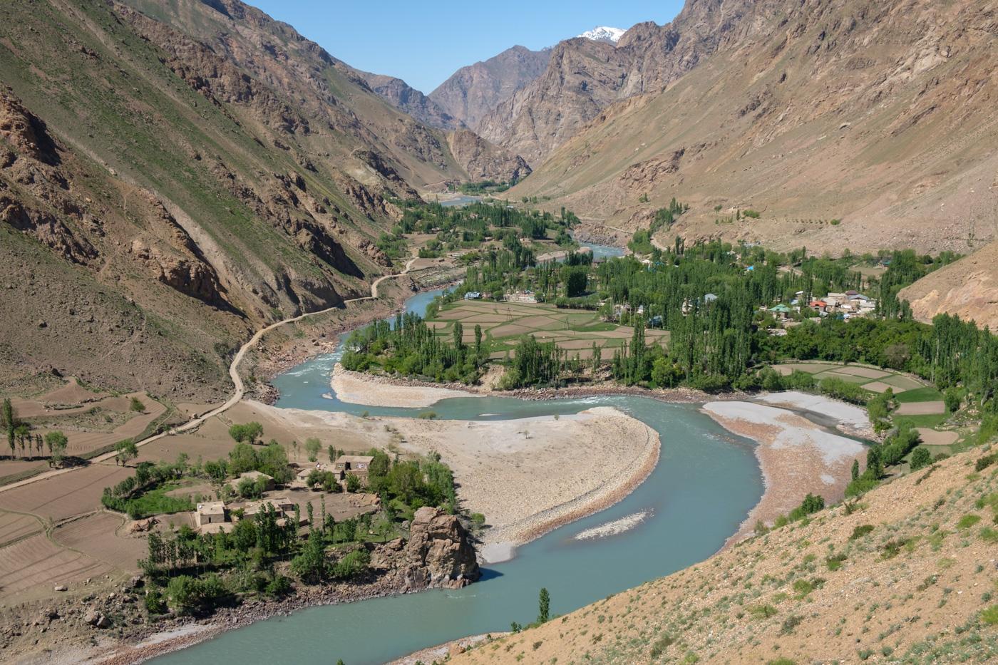 Die Grenze zwischen Tadschikistan und Afghanistan im Wakhan Valley.