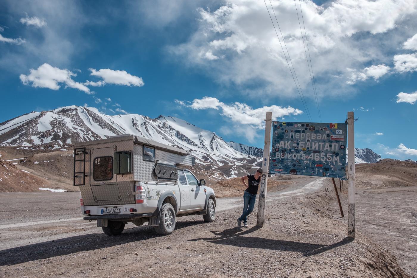 Der Ak-Baital-Pass auf 4.655 Meter Höhe.