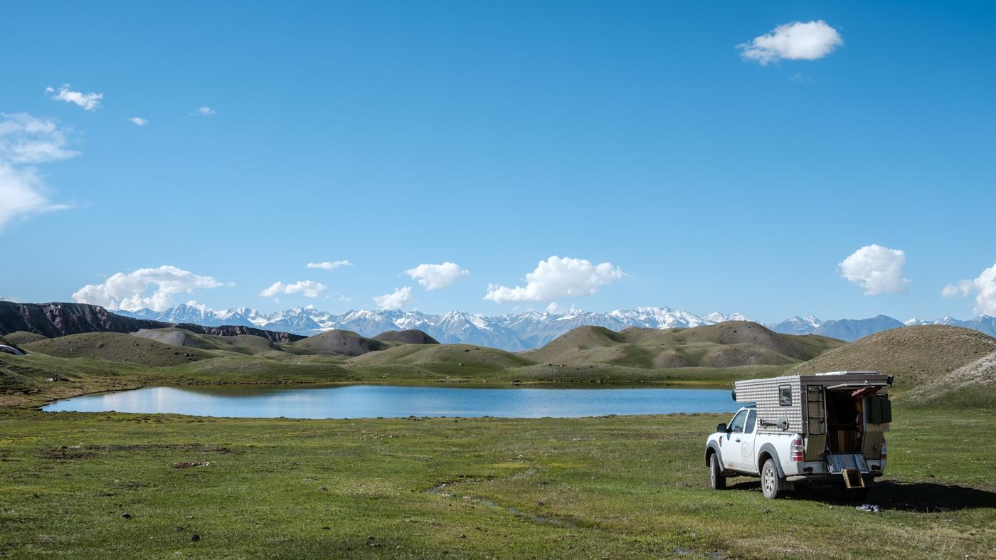 Kirgistan Die Schweiz Zentralasiens - Übernachtungsplatz in der Nähe des Pik Lenin.