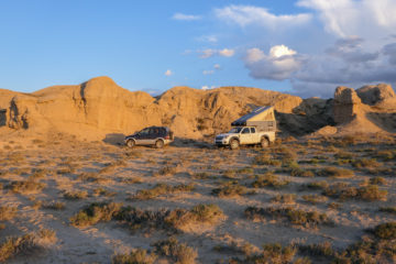 Kirgistan, Land für Bergliebhaber - Wir stehen völlig ungestört, tagelang kommt niemand vorbei.