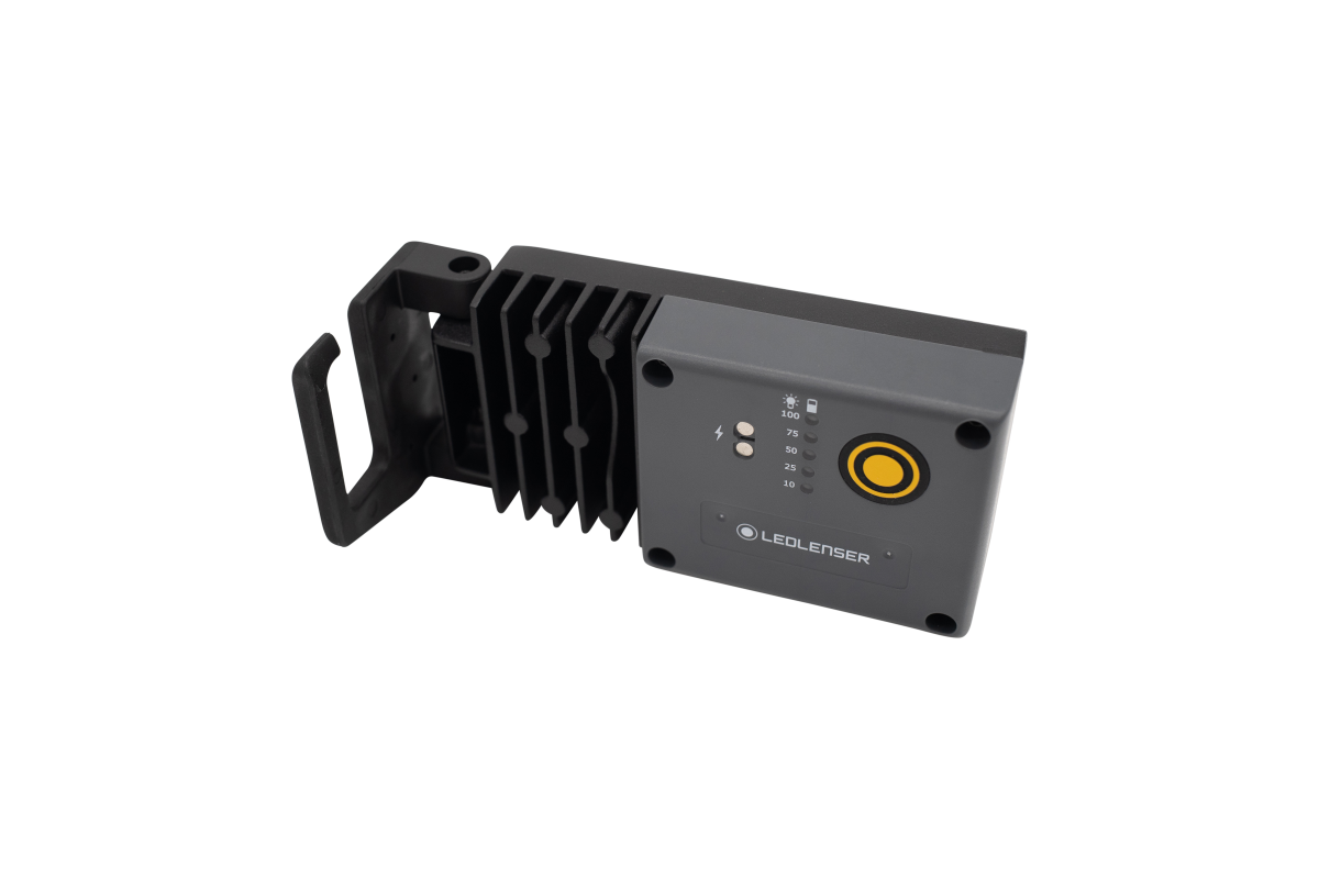 Ledlenser iF3R mit Lade- und Helligkeitsanzeige mit praktischem Befestigungssystem.
