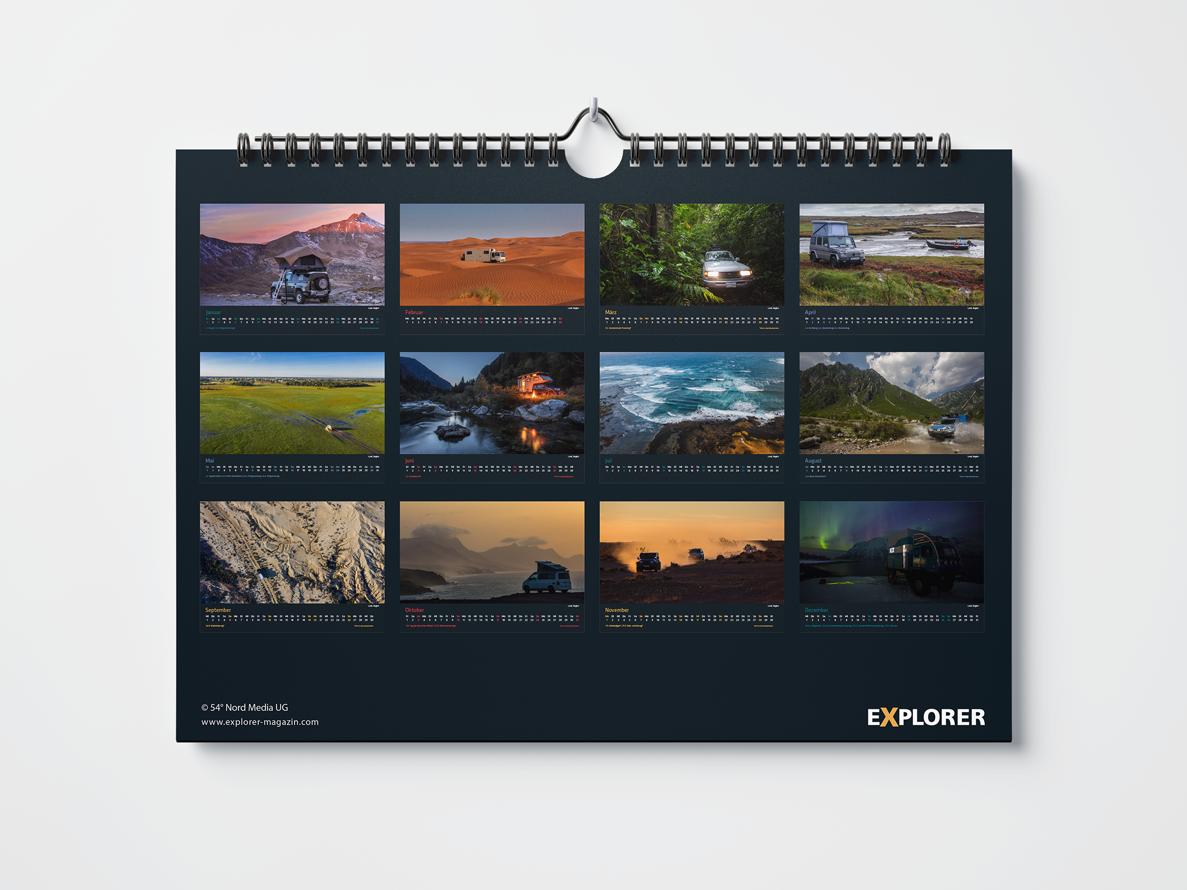 EXPLORER Magazin Kalender 2021
