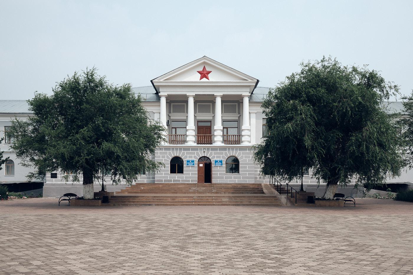 Transit durch Kasachstan - Das ehemalige Hauptverwaltungsgebäude von Karlag in Dolinka, einem der größten sowjetischen Gulag-Arbeitslager, ist heute ein Museum.