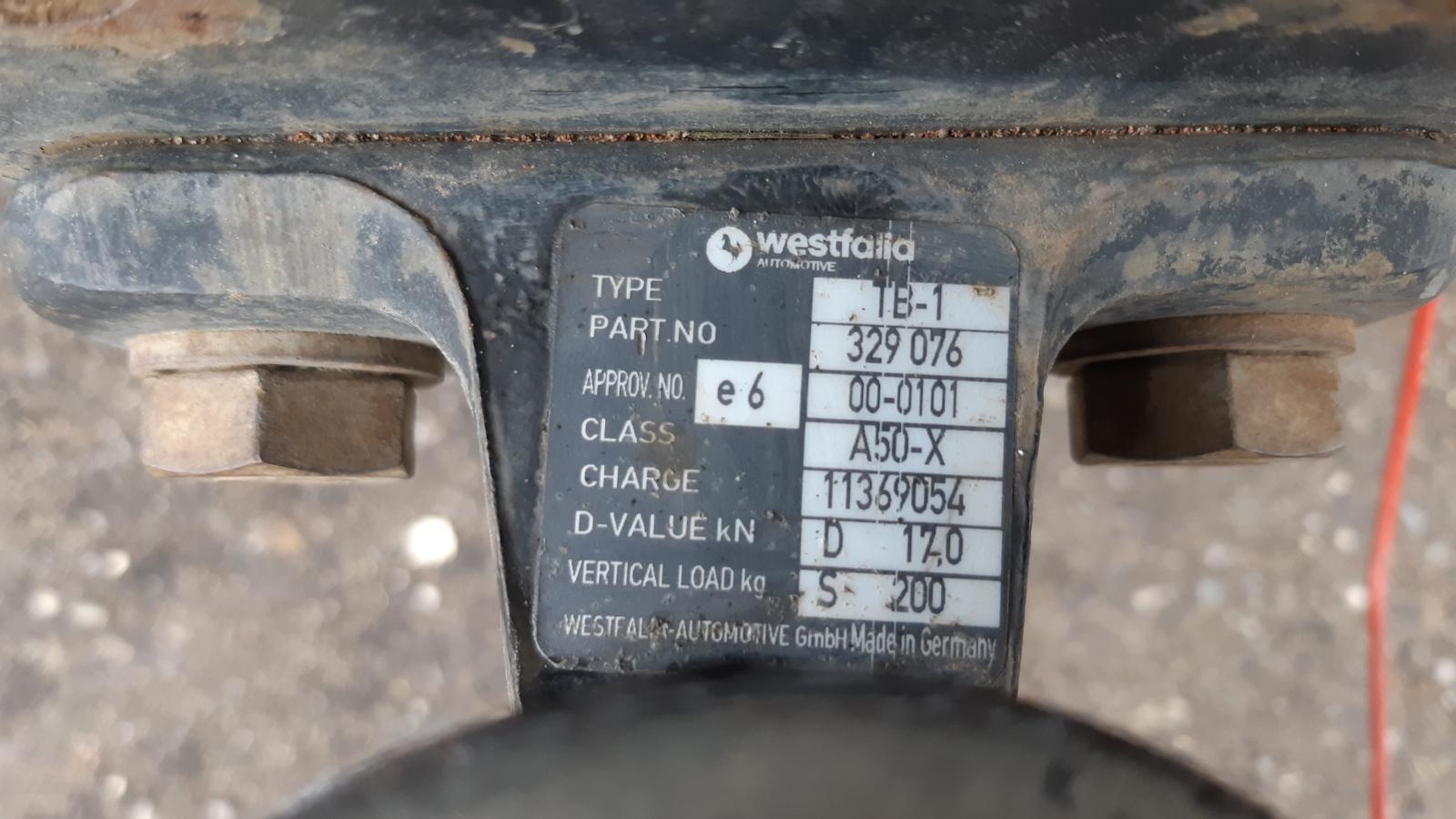 Stützlast (Vertical Load kg) dieser Anhängerkupplung: 200 kg.