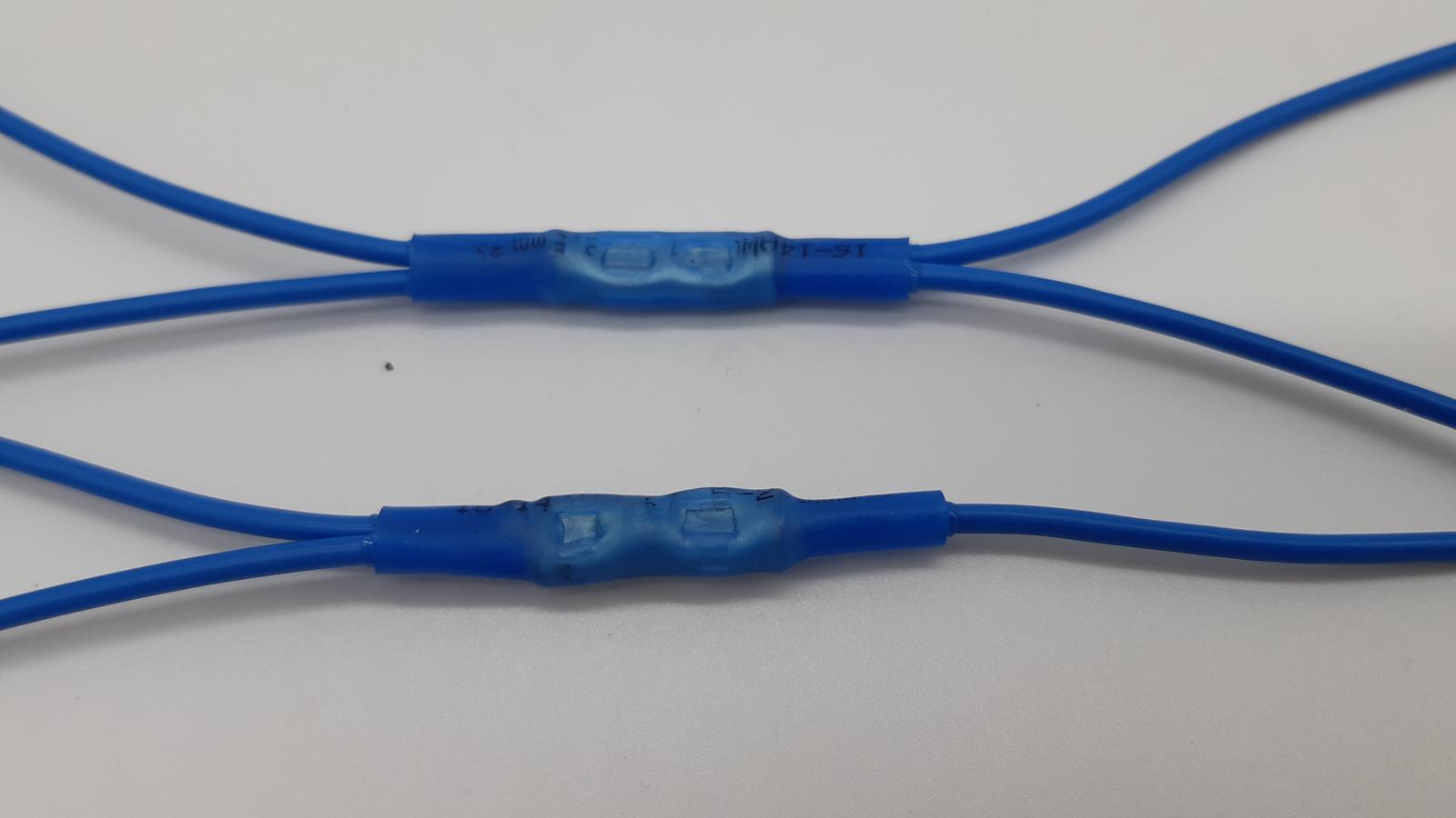 Vier- und Dreifachabzweig mittels Stoßverbinder hergestellt.