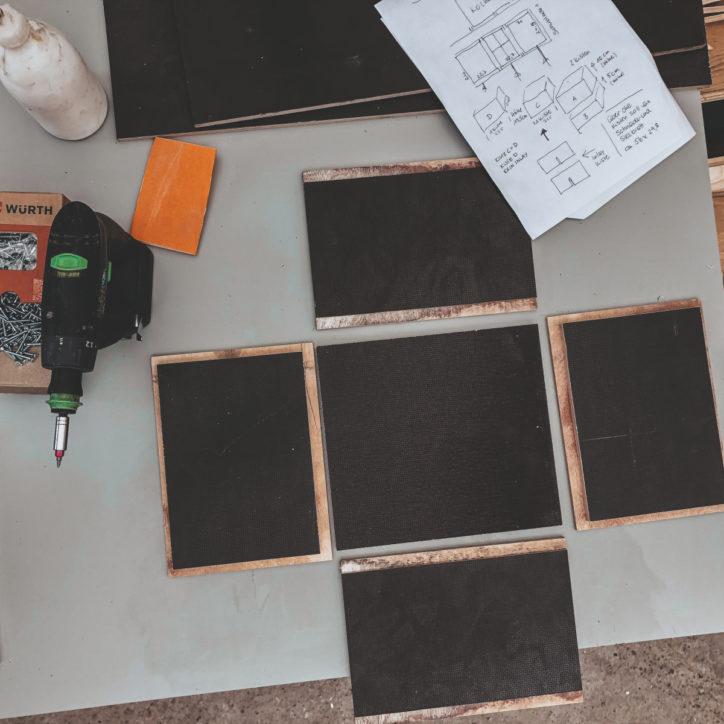 Planung für den Innenausbau.