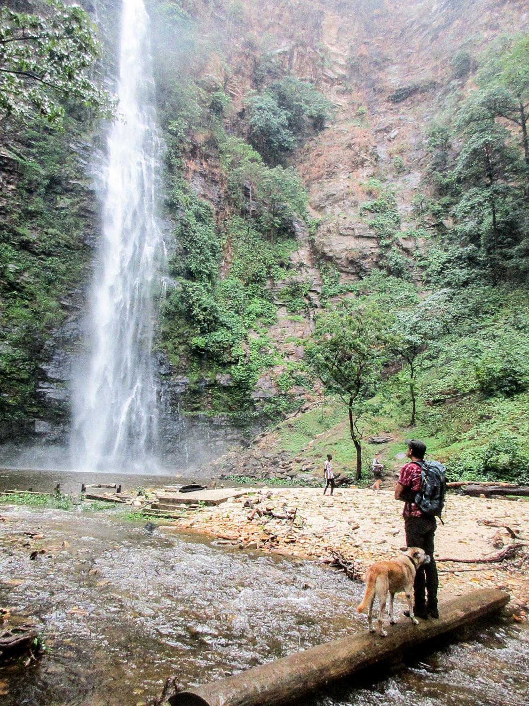 Die Wli-Falls sind nicht nur bei Touristen beliebt...